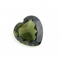 Moldavite cut heart 12mm standard cut