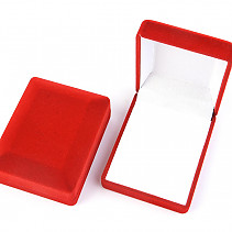 Gift box rectangle velvet red 7.5 x 6cm