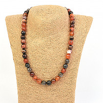 Fire Agate Cut Necklace Beads 10mm 48cm