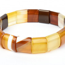 Wide bracelet agate brown 15mm