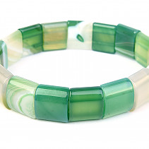 Wide bracelet agate green 15mm