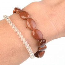 Avanturine Synthetic Bracelet Oval