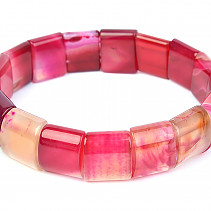 Wide bracelet agate pink 15mm