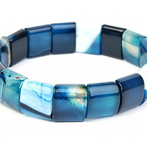 Wide bracelet agate blue 15mm