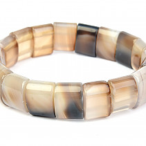 Wide bracelet agate gray 15mm