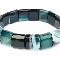 Wide bracelet agate dark 15mm