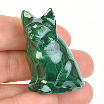 Cat of stone malachite 53g