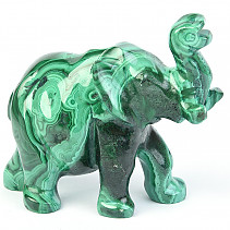 Malachite elephant 313g