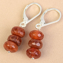 Agate buttoned earrings Ag fastening