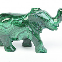 Malachite elephant 207g