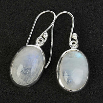 Moonstone earrings oval Ag 925/1000