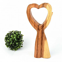 Heart connected palm wood 30cm