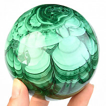 Stone malachite in the shape of a ball 941g