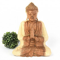 Big Buddha, light wood 32cm