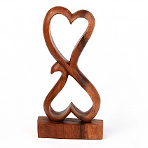 Heart abstract wood 30cm
