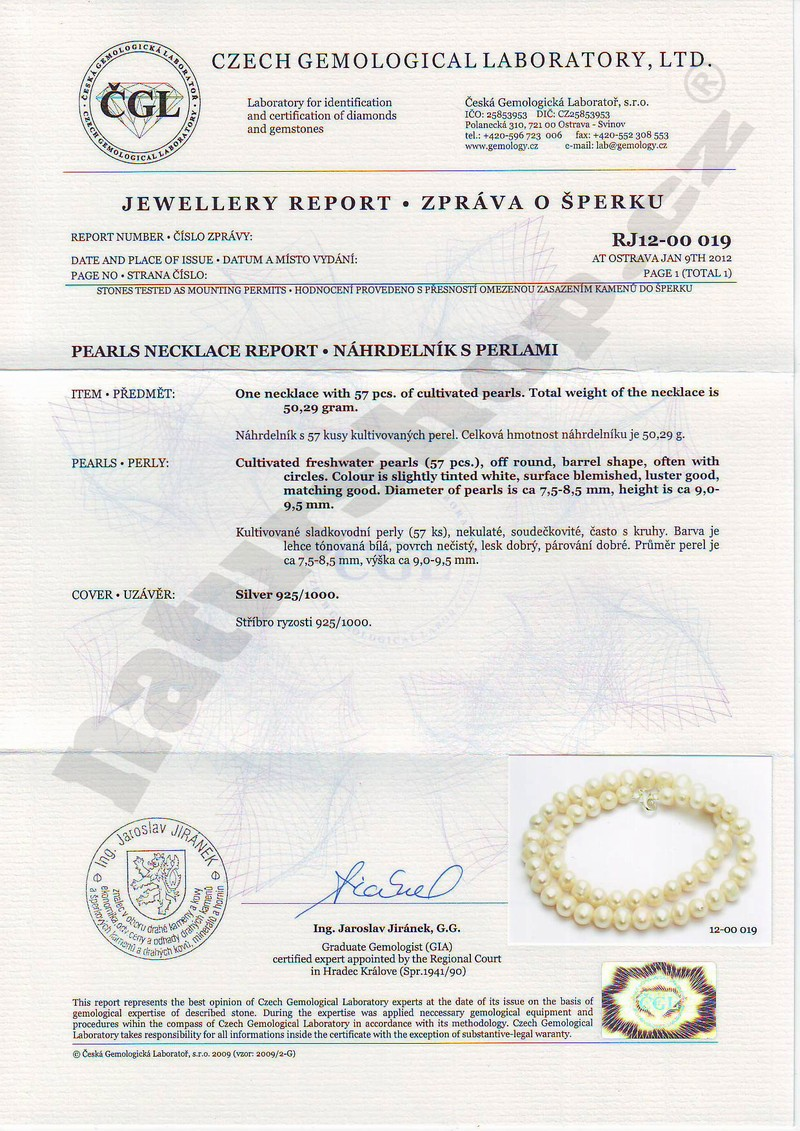 Certificates of authenticity naturshop pearl necklace certificate of authenticity naturshop yadclub Choice Image