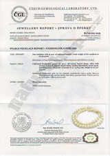 pearl necklace Certificate of Authenticity Naturshop.cz
